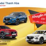 Hyundai Thanh Hóa khuyến mại lên đến 20 triệu đồng dành cho Hyundai Santa Fe, Tucson